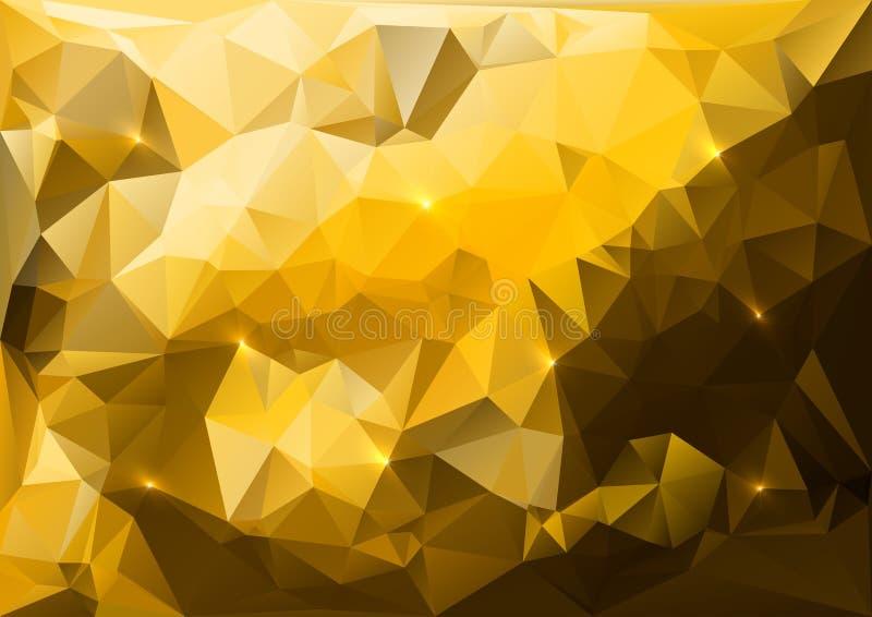 Triangles d'or illustration de vecteur
