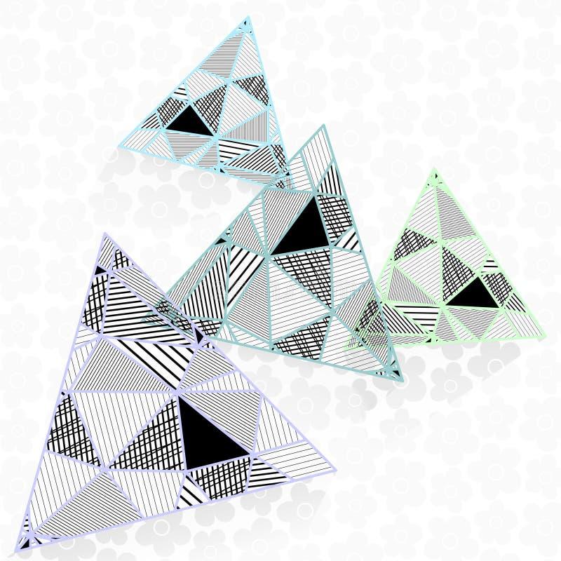 Triangles dans le bas poly style illustration libre de droits