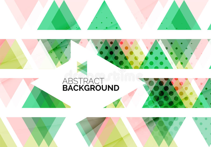 Triangles, geometric clean abstract background. Web business or hi-tech design template vector illustration