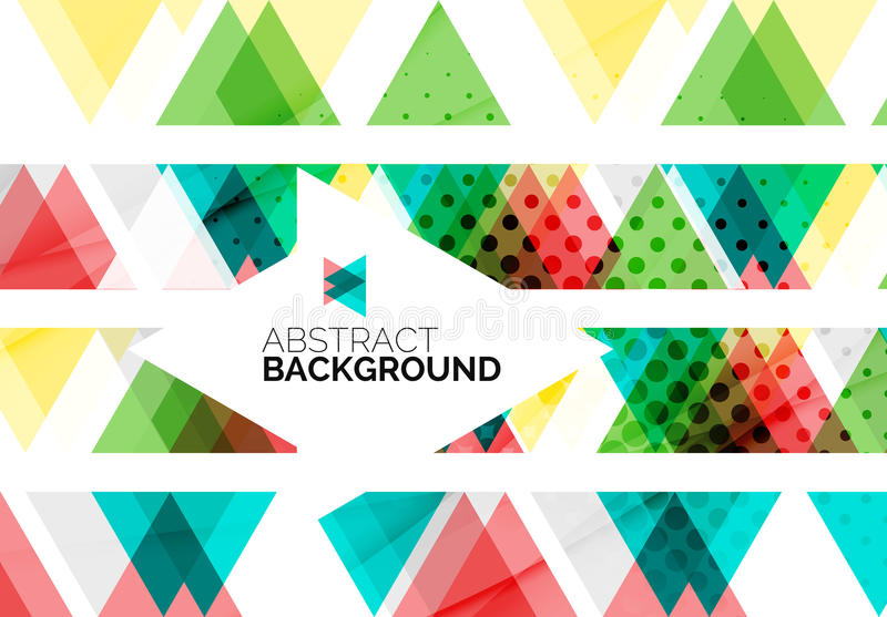 Triangles, geometric clean abstract background. Web business or hi-tech design template royalty free illustration