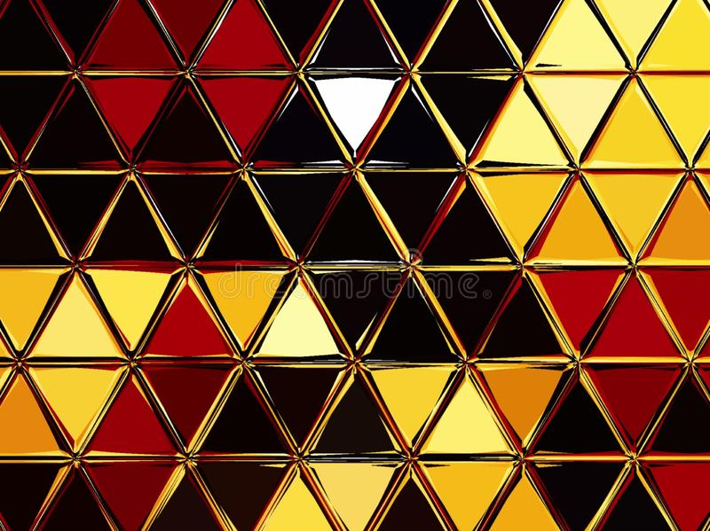 Triangles grid mosaic seamless pattern background. royalty free stock photo