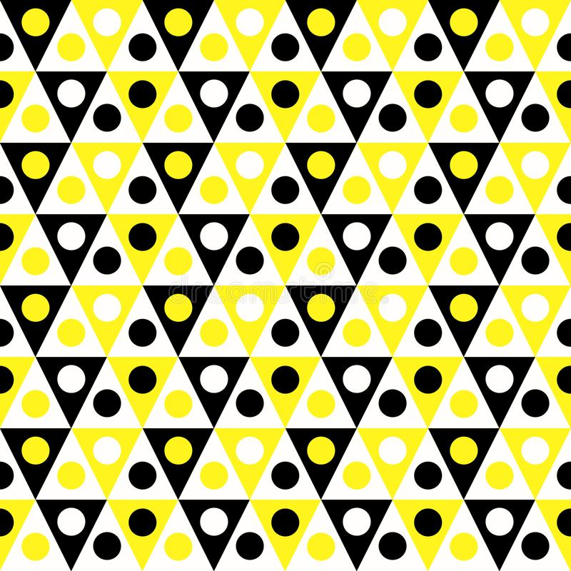 Triangles hive pattern seamless background vector illustration