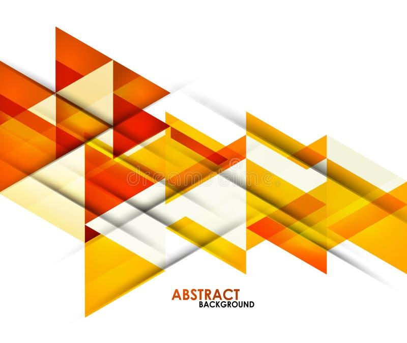 Triangles oranges d'affaires illustration stock