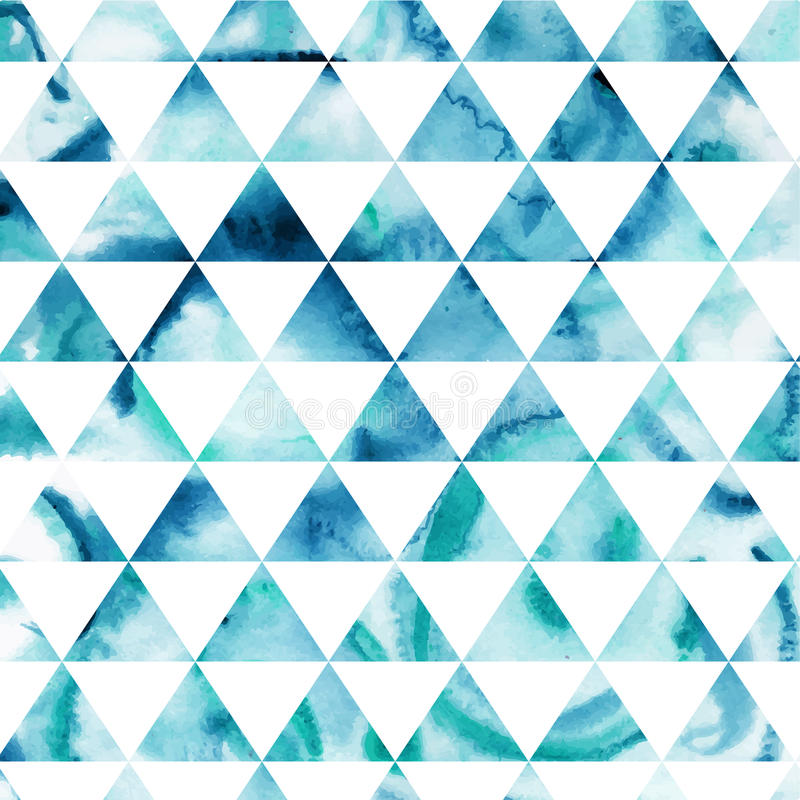 Triangles pattern of geometric shapes. Colorful mosaic backdrop. stock illustration