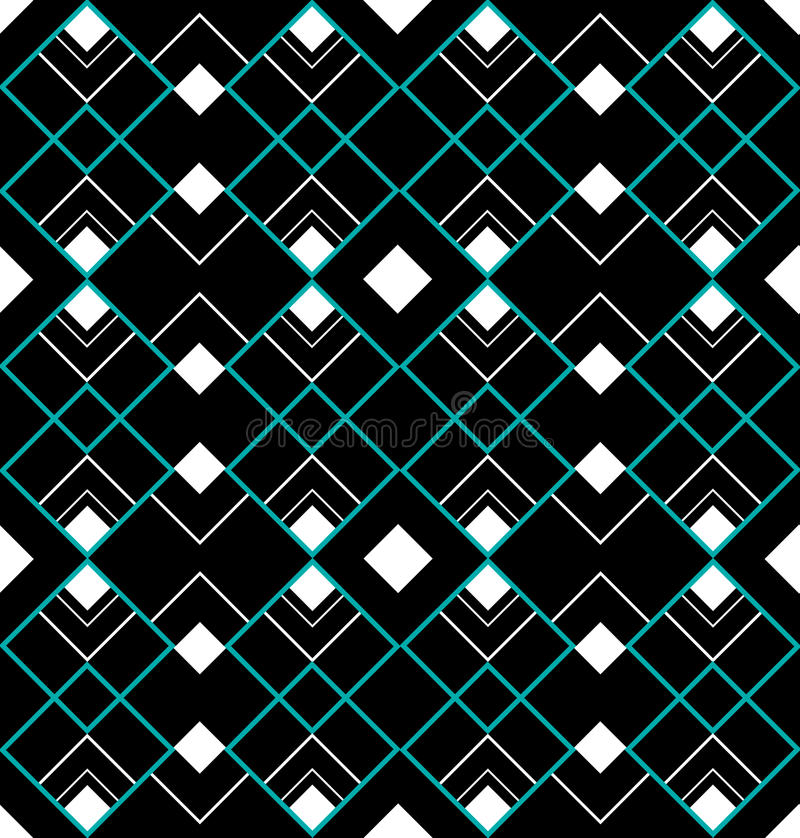 Triangles sans joint d'art déco de turquoise illustration de vecteur
