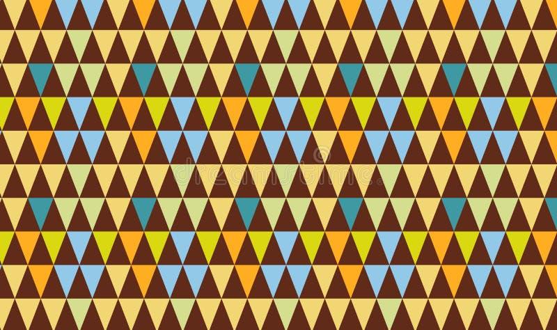 Triangles seamless pattern background. Illustration design stock photo