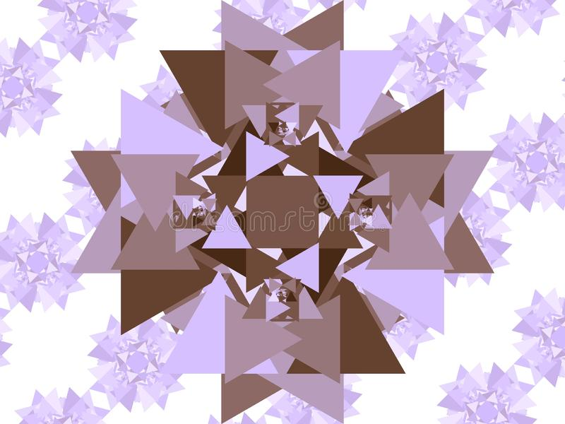 Triangles seulement illustration stock