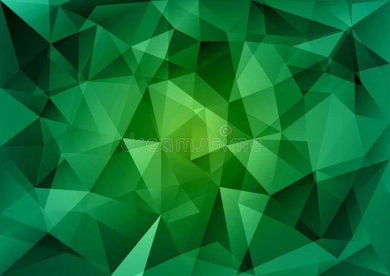 Triangles vertes illustration libre de droits
