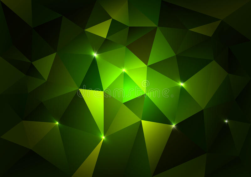 Triangles vertes foncées illustration libre de droits