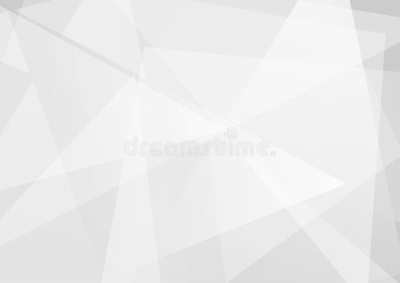 Triangoli astratti con luce su fondo grigio illustrazione vettoriale