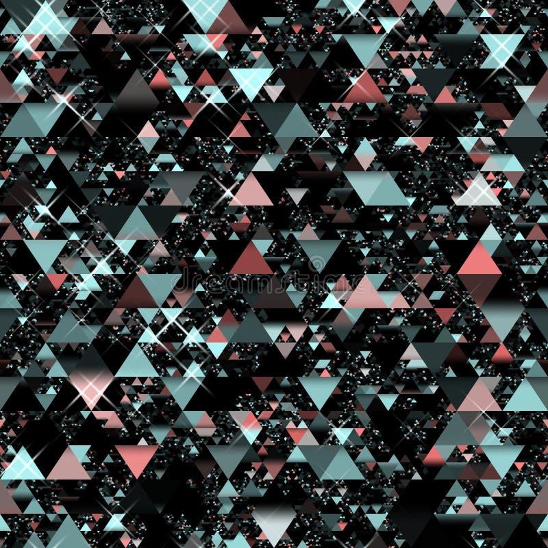 Triangoli casuali illustrazione di stock