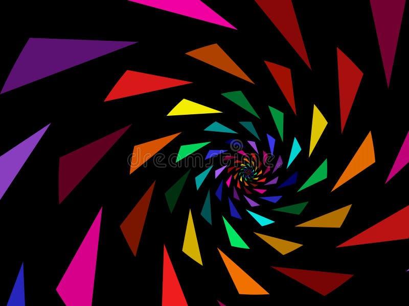 Triangoli del Rainbow illustrazione vettoriale