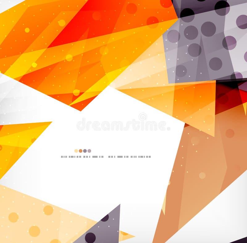 Triangoli di sovrapposizione lucidi moderni 3d illustrazione vettoriale