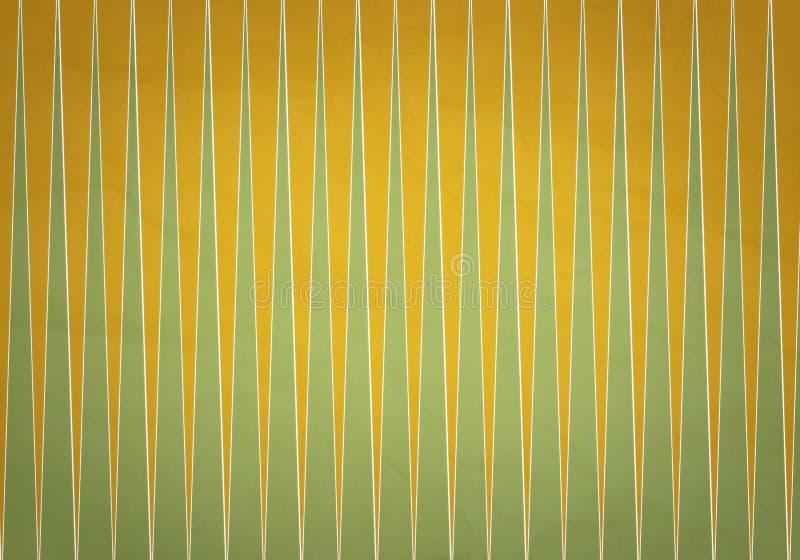 Triangoli di verde giallo immagini stock libere da diritti