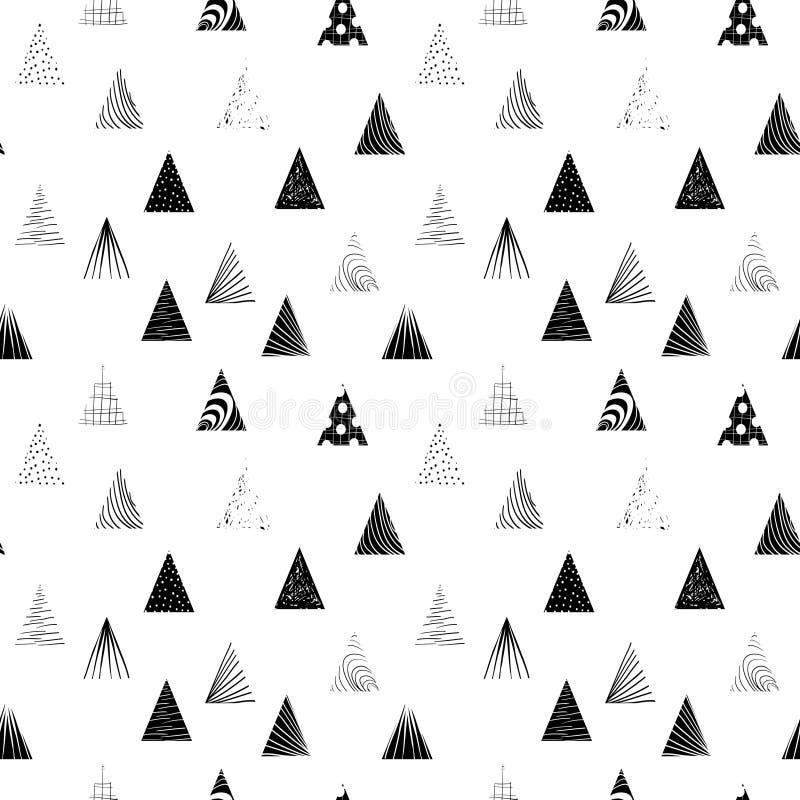 Triangoli neri strutturati Reticolo senza giunte fotografia stock
