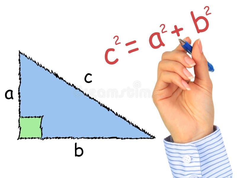 Triangolo ad angolo retto. fotografie stock libere da diritti
