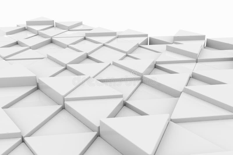 Triangolo bianco. Cenni storici. illustrazione di stock