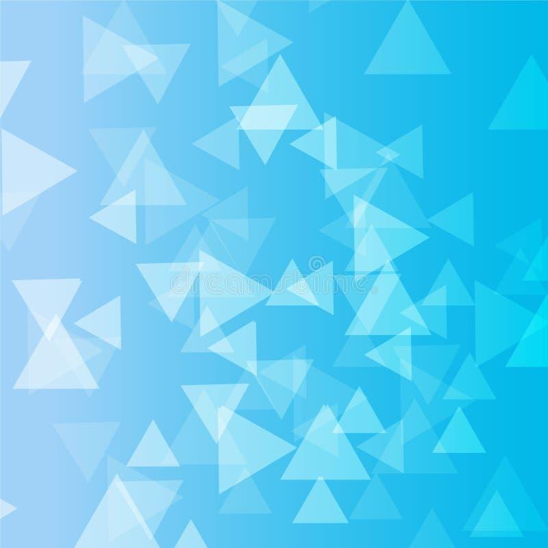 Triangolo blu molto fotografia stock