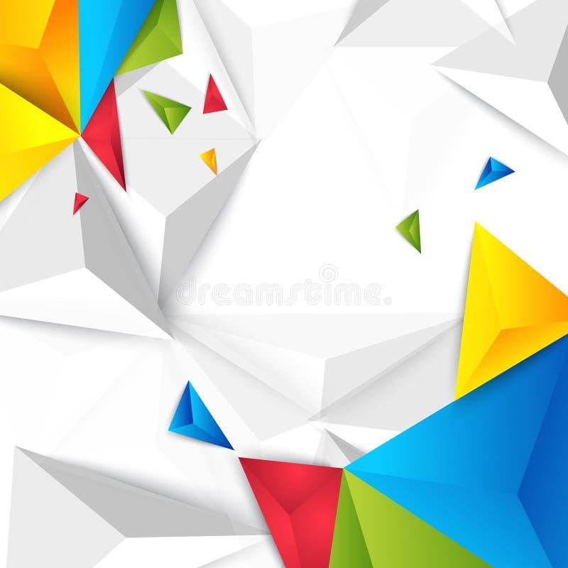 Triangolo del poligono dell'estratto del fondo di colore di vettore illustrazione di stock