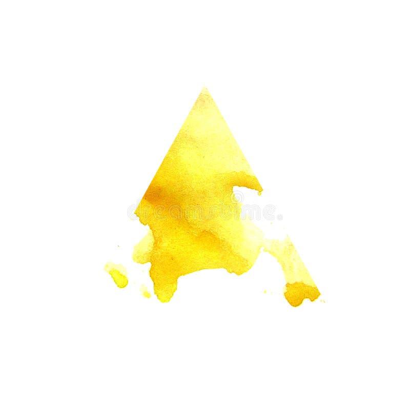 Triangolo dell'acquerello isolato su bianco illustrazione vettoriale