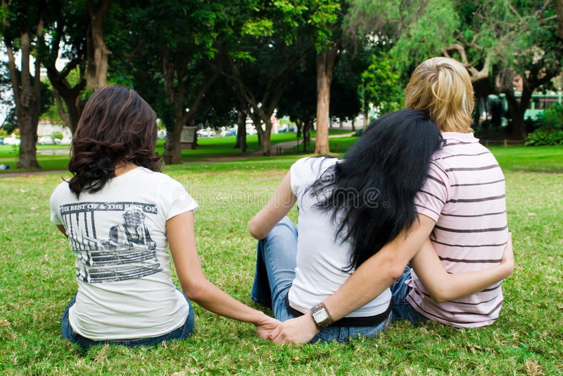 triangolo di amore immagine stock libera da diritti