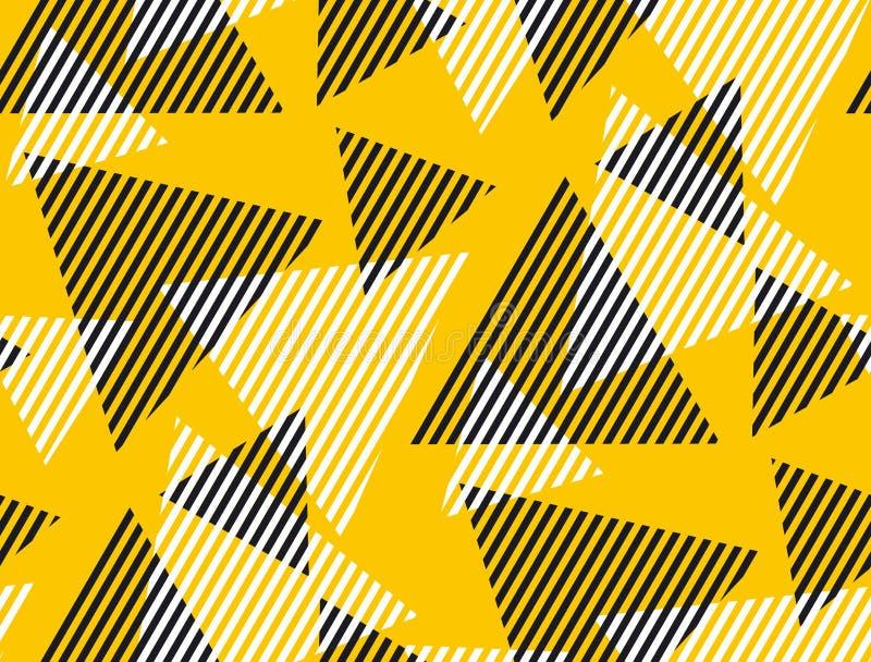 Triangolo dinamico geometrico astratto e modello senza cuciture della banda illustrazione vettoriale