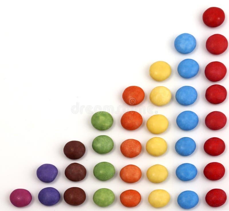 Triangolo fatto con la caramella colorata immagini stock libere da diritti