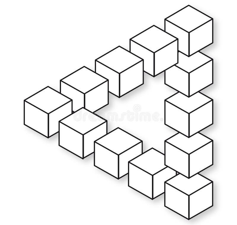 Triangolo impossibile royalty illustrazione gratis