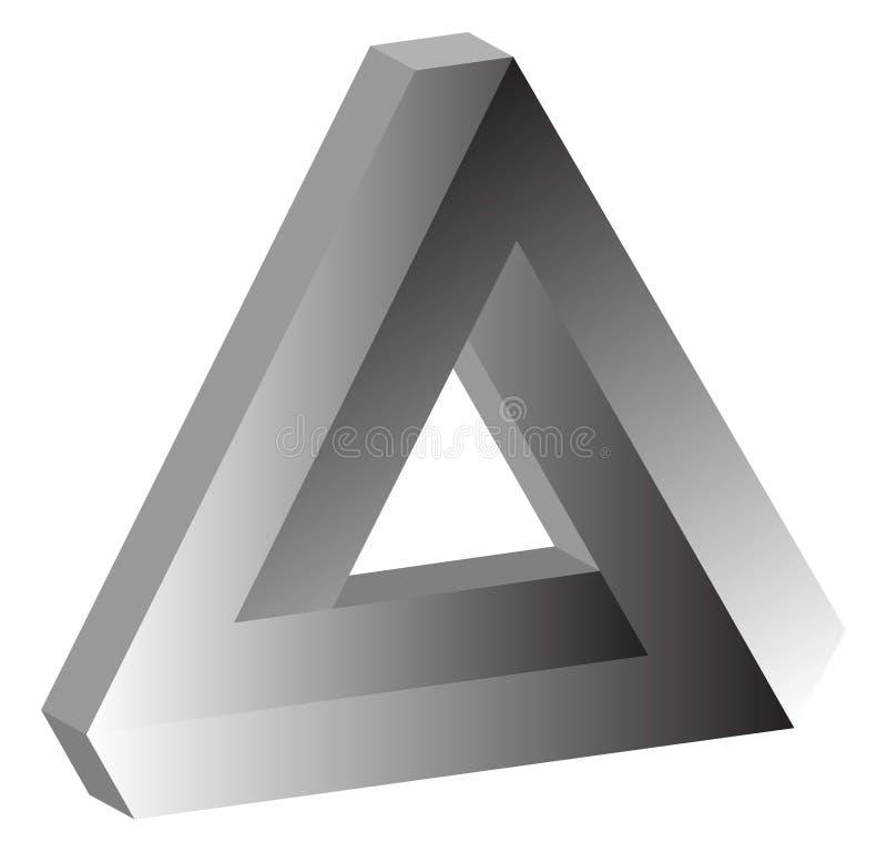 triangolo impossibile 3D di Tribar illustrazione di stock
