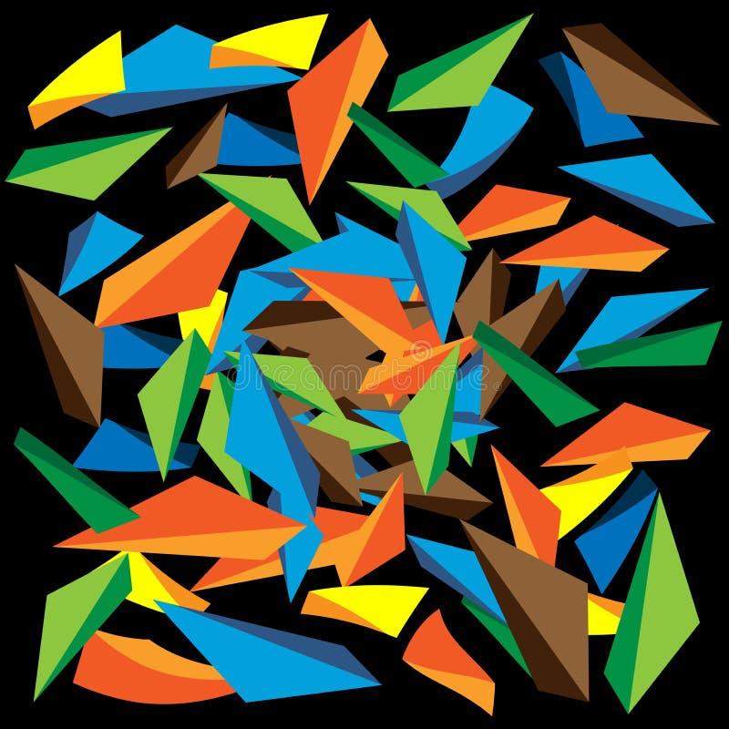 Triangolo incrinato illustrazione di stock