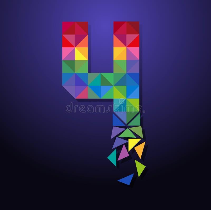 Triangolo rotto numero quattro royalty illustrazione gratis
