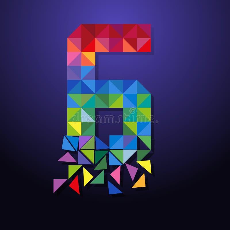 Triangolo rotto numero sei illustrazione vettoriale