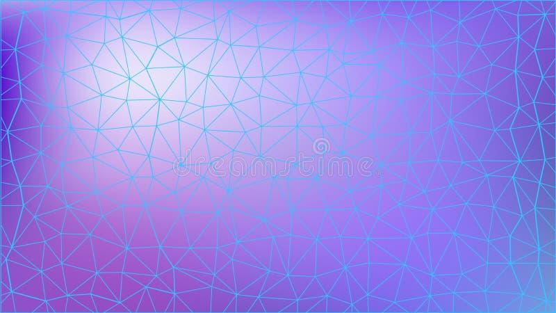 Triangulär modell för abstrakt colorfull Polygonal lutningbakgrund royaltyfri illustrationer