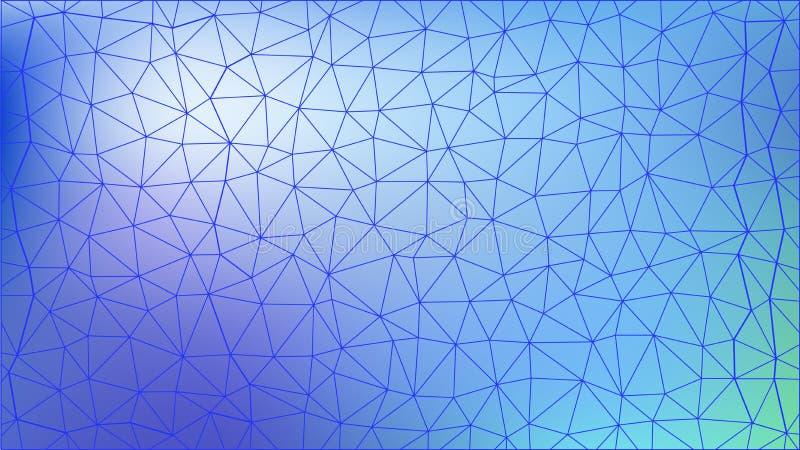 Triangulär modell för abstrakt colorfull Polygonal lutningbakgrund stock illustrationer