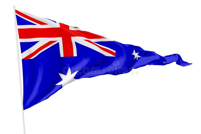 Triangulär nationsflagga av Australien stock illustrationer