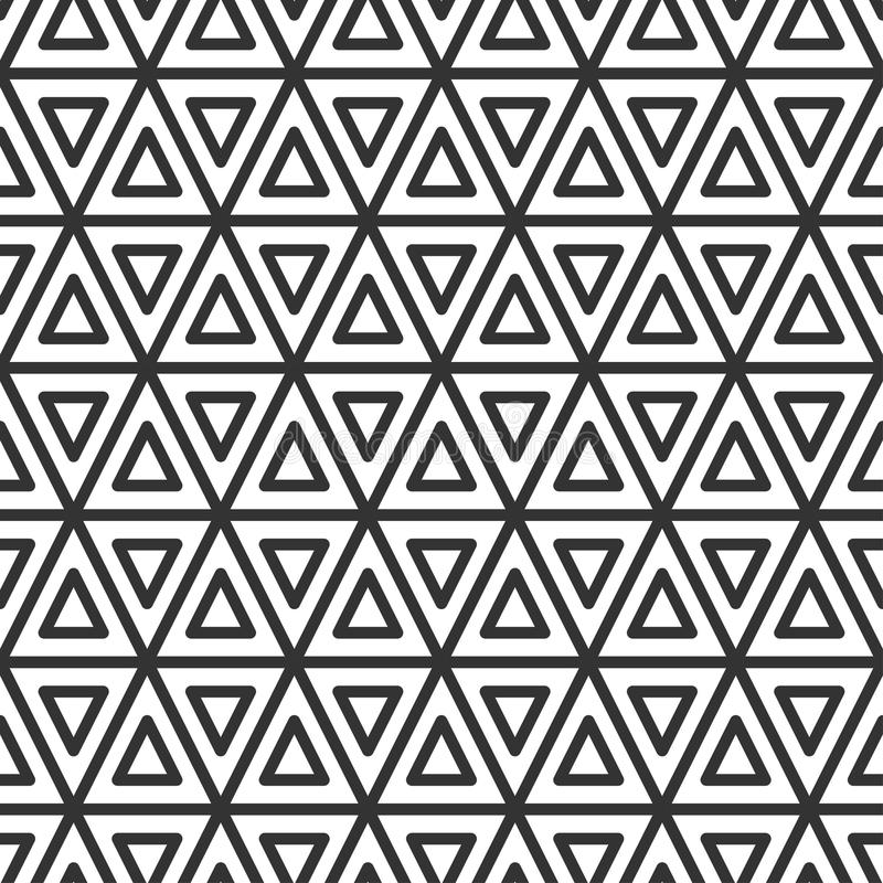 Triangulär tegelplatta seamless geometrisk modell stock illustrationer