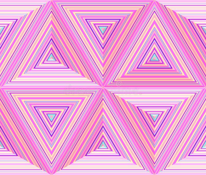 Triangulära mått, abstrakt geometrisk repeatable bakgrund stock illustrationer
