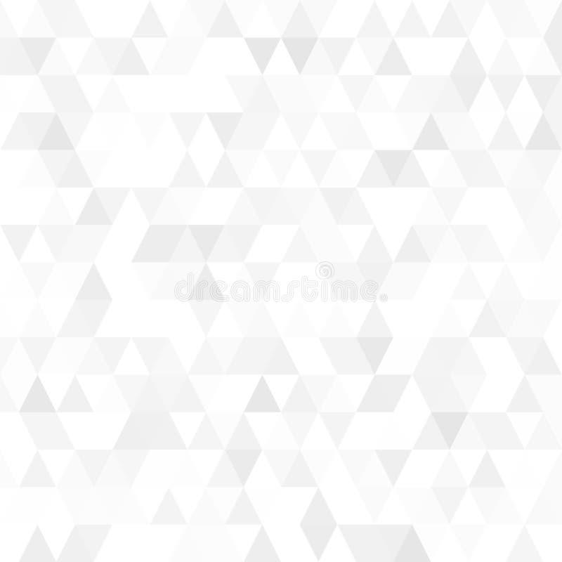 Triangulärt lågt poly, ljust - grått, silver, abstrakt modellbakgrund för mosaik, polygonal illustrationdiagram för vektor som är stock illustrationer