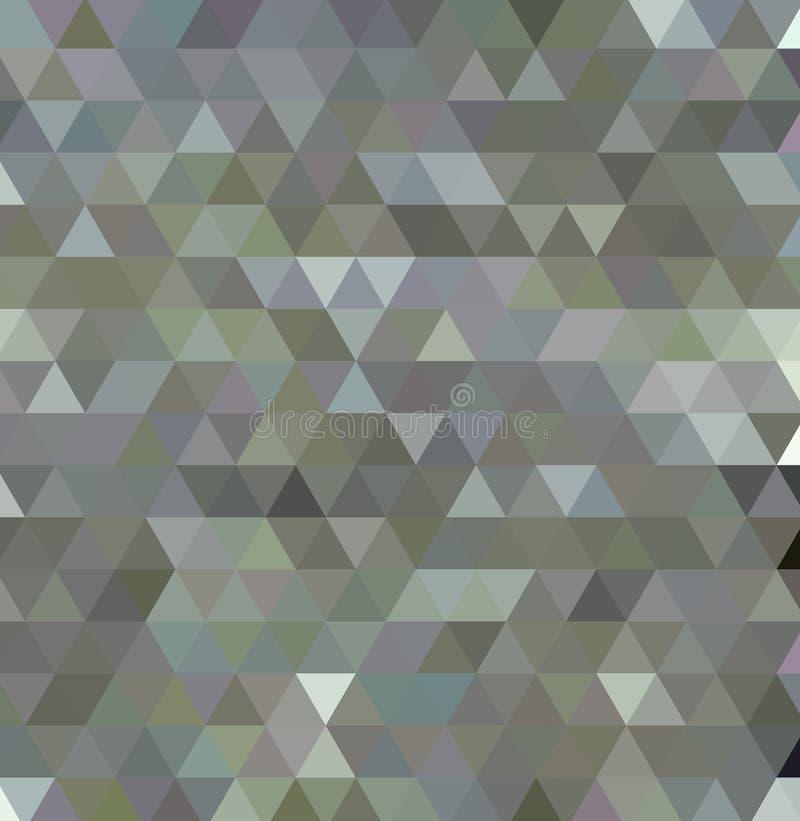 Triangulärt lågt poly, ljust - grått, silver, bakgrund för mosaikmodell, stock illustrationer