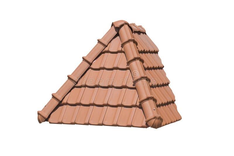 triangulärt tak som isoleras på vit bakgrund royaltyfri fotografi