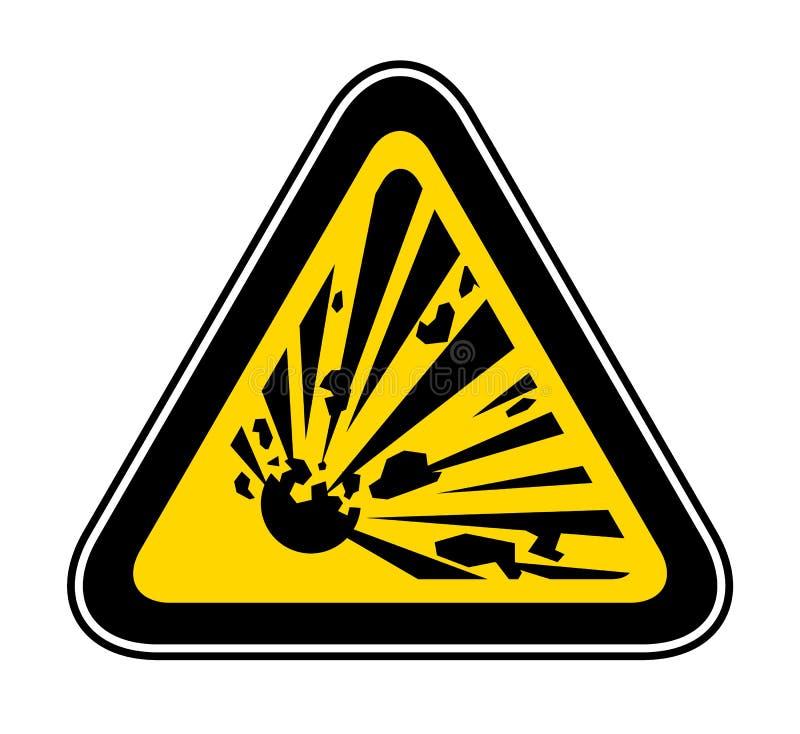 Triangulärt varningsfarasymbol stock illustrationer