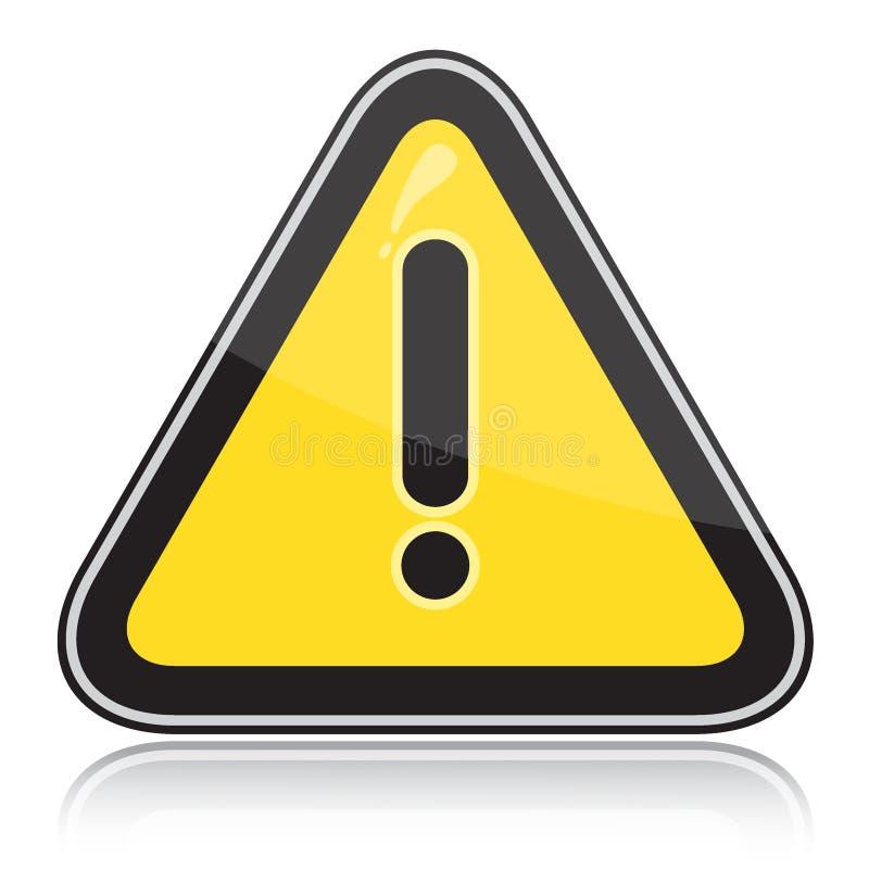 Triangulaire jaune l'autre signal d'avertissement de dangers illustration stock