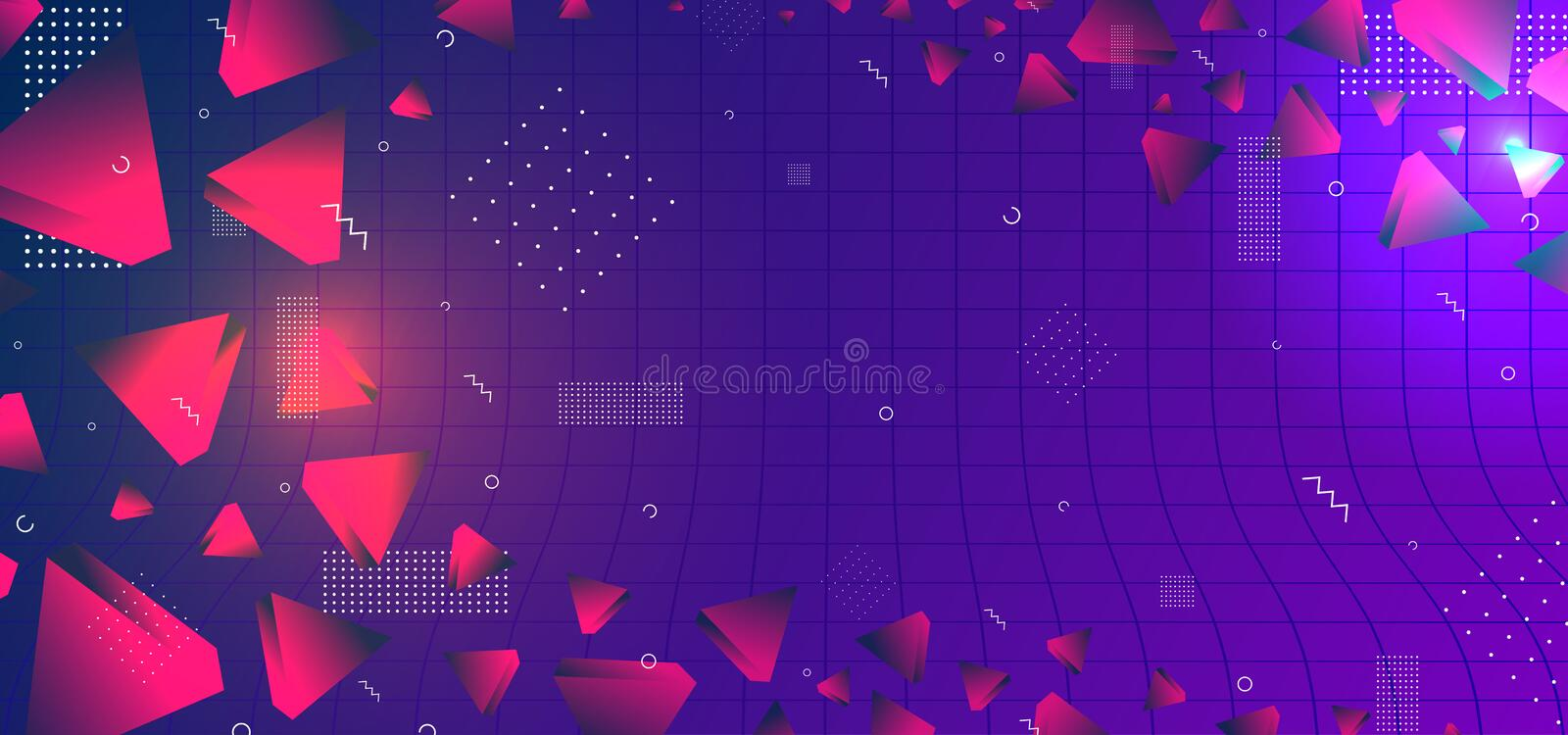 Triangular background. Abstract composition of 3d triangles. 3D vector illustration . Futuristic geometric background. Orange vector illustration