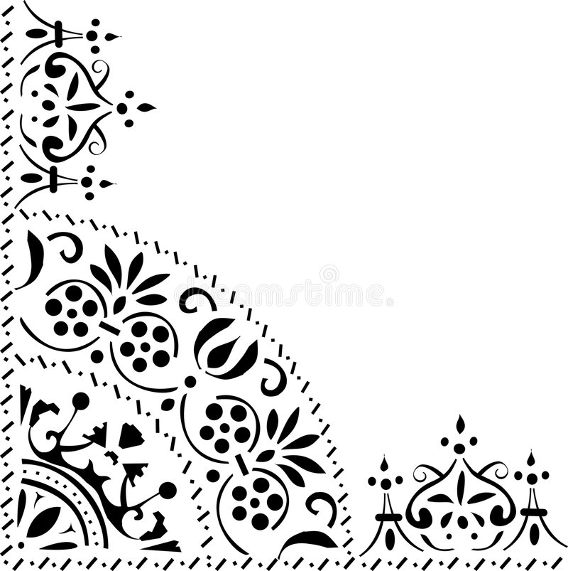 Download Triangular black ornament stock illustration. Image of shape - 9004777