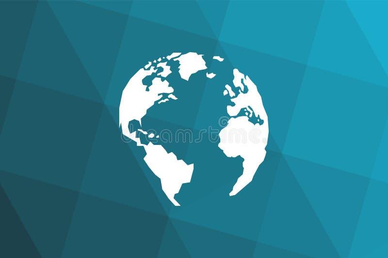 Triangular blue black gradient background. Lowpolygonal. royalty free illustration