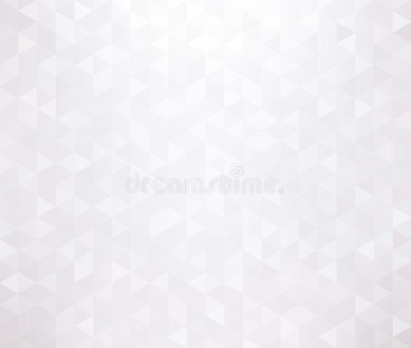 Triangular brilliance white texture. Shiny creative mosaic pattern. Light geometric trendy template. Empty subtle cool background. Background or texture is the royalty free illustration