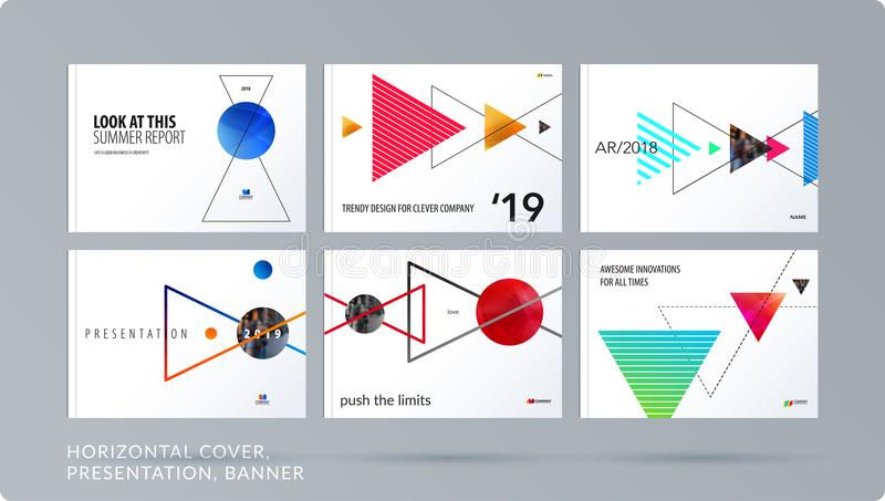 Download Triangular Design Presentation Template With Colourful Triangles Shadows. Abstract Vector Set Of Modern Horizontal Stock Vector - Illustration of marketing, business: 116257932