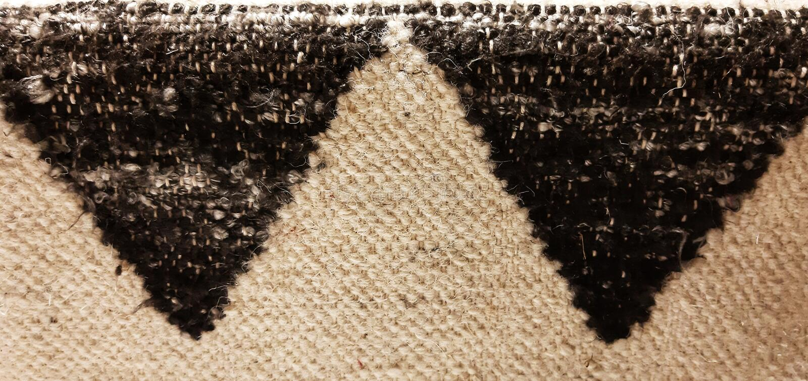 Triangles ragg rug texture royalty free stock photos
