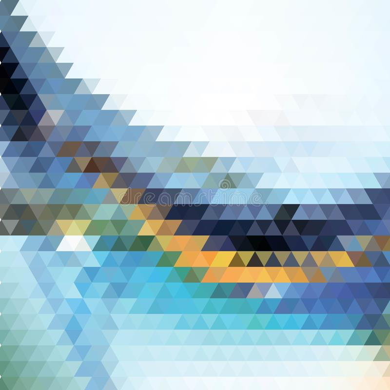 triangular geometric composition. polygonal style abstract vector background eps 10 royalty free illustration