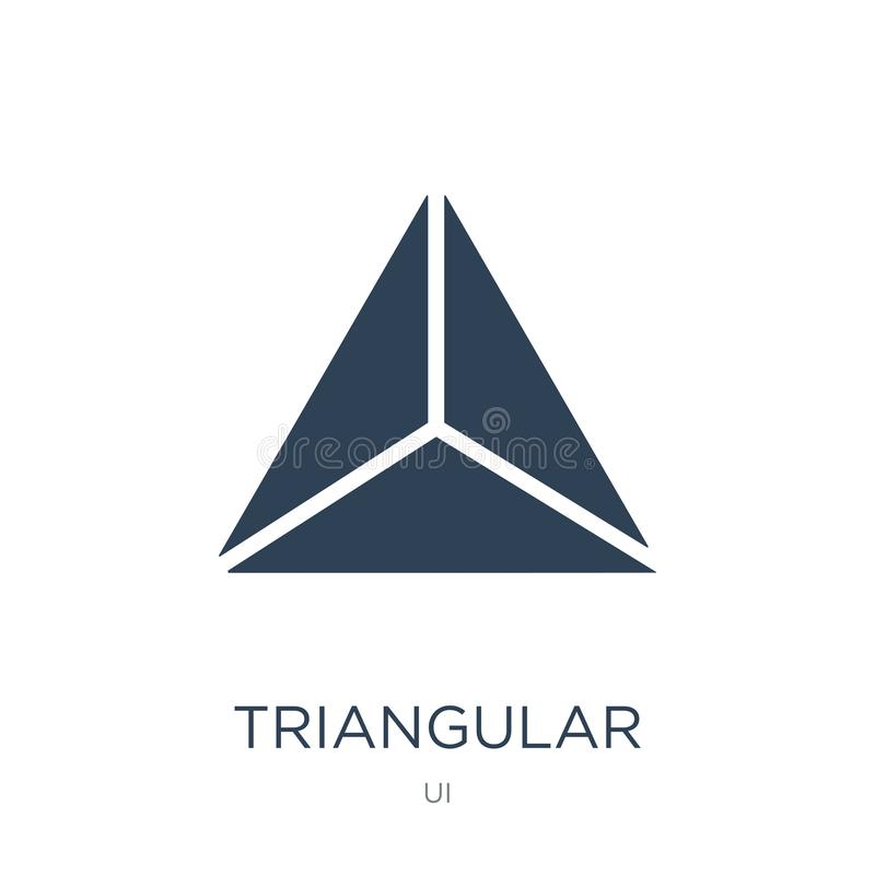 triangular icon in trendy design style. triangular icon isolated on white background. triangular vector icon simple and modern stock illustration